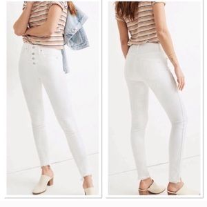Madewell 10 inch high rise white skinny jeans 32